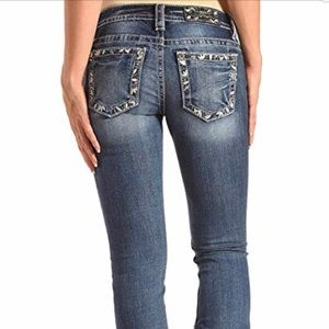 Miss Me Floral Embroidered Boot Cut Jeans